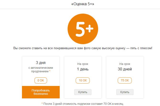 Оценки Одноклассники